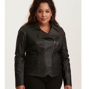 Her Universe Loki Studded Faux Leather Moto Jacket